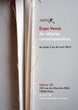 EXPO VENTE de reliures contemporaines  association APPAR